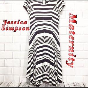 Jessica Simpson Maternity Black and White Maxi S P